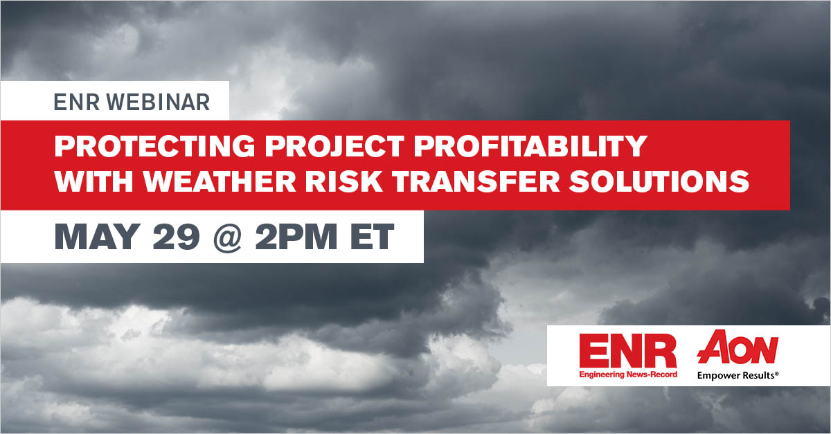 Protecting Project Profitability with Weather Risk Transfer Solutions